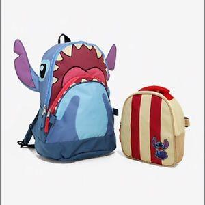 Handbags - Disney Stitch Backpack + Lunchbag 2 Bags in 1 NWT